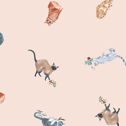 Felines in Dew