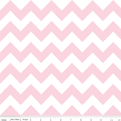 Medium Chevron in Baby Pink