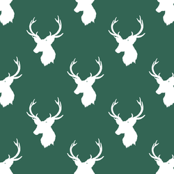 Little Stag Silhouette in Moss Green