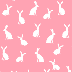 Cottontail Silhouette in Rose Pink