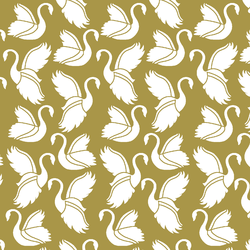 Swan Silhouette in Gold