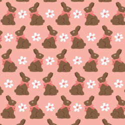 Chocolate Bunnies in Sweet Strawberry