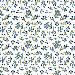 Blue Berries in Whisper White