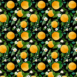 Small Oranges in Black