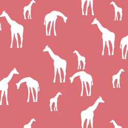 Giraffe Silhouette in Dahlia