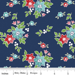 Seaside Floral in Navy