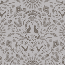 Desert Damask in Pebble