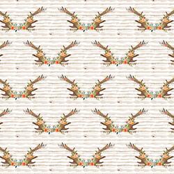 Small Meadow Horns in Tan Stripe