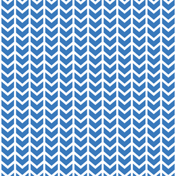Broken Chevron in Cerulean