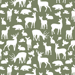 Forest Friends in Olive