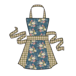 Harvest Apron Panel in Fall Harvest