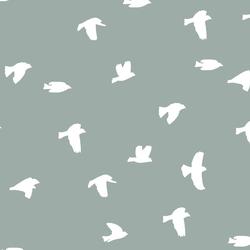 Flock Silhouette in Eucalyptus