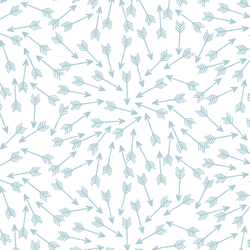 Arrows in Powder Blue on White