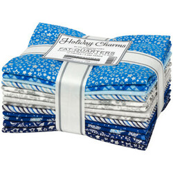 Holiday Charms Fat Quarter Bundle in 2021 Blue Colorstory