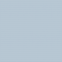 Small Winter Dot in White on Cashmere Blue