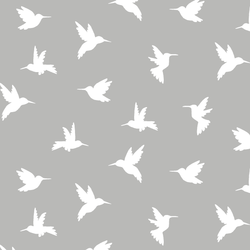 Hummingbird Silhouette in Pebble