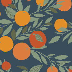 Tangerines in Navy
