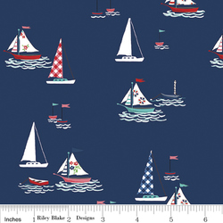 Seaside Boats in Navy