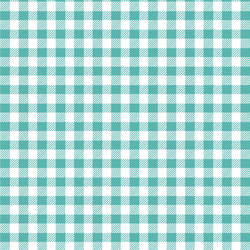 Small Buffalo Plaid in Seafoam
