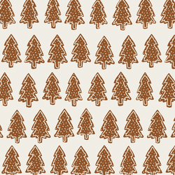 Gingerbread Christmas Trees in Cream