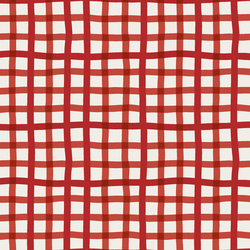 Winter Gingham in Christmas Red