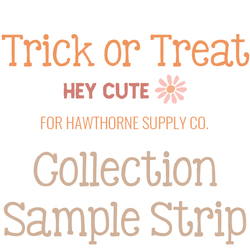 Trick or Treat Sample Strip