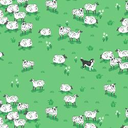 Sheep Herder in Fern