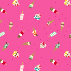 Ice Creams in Bright Pink