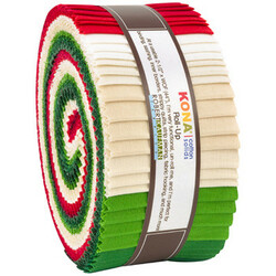 """Kona Solid 2.5"""" Strip Roll in Holiday"""