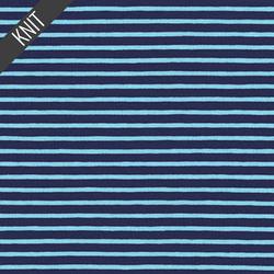 Harbor Stripe Jersey Knit in Ocean