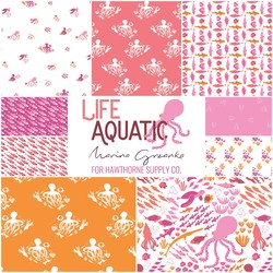 Life Aquatic Fat Quarter Bundle in Pacific