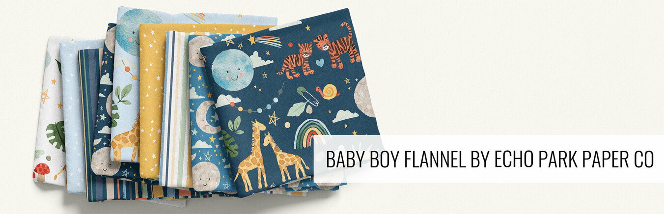 Baby Boy Flannel by Echo Park Paper Co
