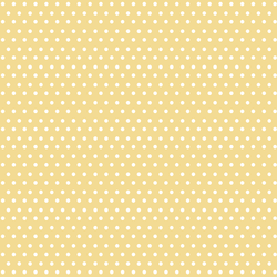 Winter Dot in White on Sunny Yellow