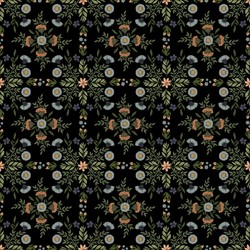 Bee Damask in Black
