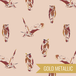 Wise Owl in Blush Metallic