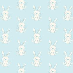 Spring Bunny in Fresh Blue