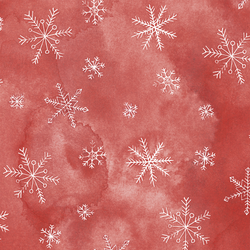 Snowflake in Peppermint Red
