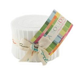 Bella Solids Junior Jelly Roll in White