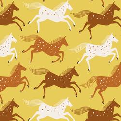 Wild Horses in Badlands