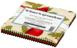 Winter's Grandeur 2 Charm Squares in Holiday Colorstory