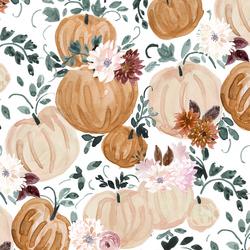 Harvest Pumpkins in Moonlight