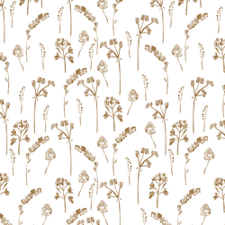Pressed Flowers in Ochre