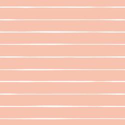 Stripe in White on Vintage Rose