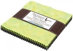 Artisan Batiks: Prisma Dyes, Rainforest colorstory Charm Pack