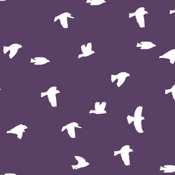 Flock Silhouette in Aubergine