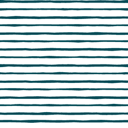 Artisan Stripe in Juniper in White