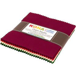 """Kona Solid 5"""" Square Pack in Holiday"""
