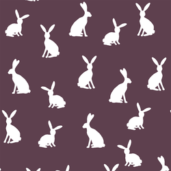 Cottontail Silhouette in Raisin