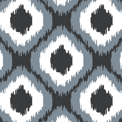 Wild Ikat in Dark Grey