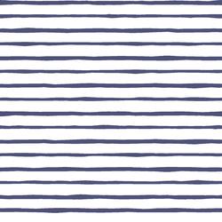 Artisan Stripe in Indigo on White